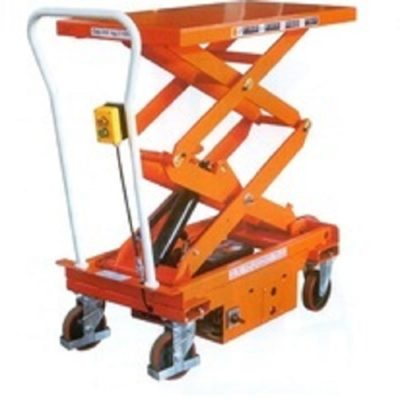 Xe nâng mặt bàn dùng điện nâng 1 tấn