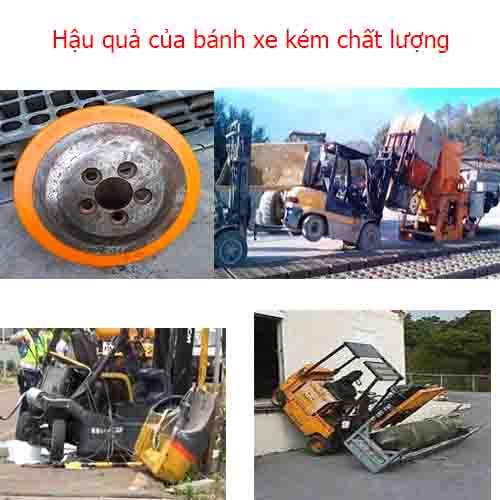 Thông tin bánh xe nâng điện là gì? cái gì có thể sử dụng khi xe nâng điện bị hỏng bánh xe